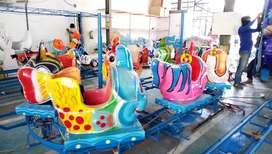 mainan eskavator edukasi anak EK kereta panggung ikan nemo odong water
