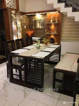 Wooden dining set available