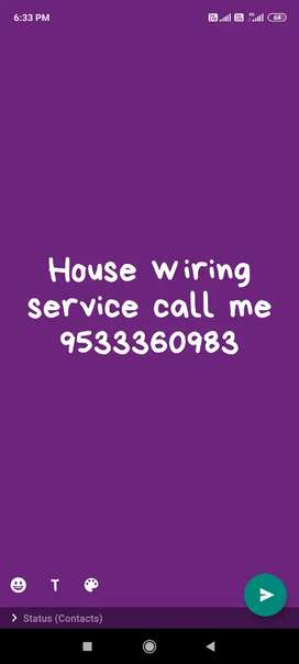 House wiring service available call me