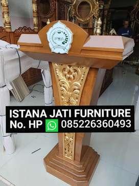 Mimbar material bahan jati / mimbar bisa untuk mushola masjid