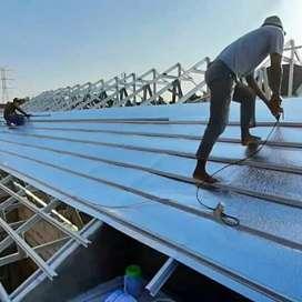Baja ringan renovasi rumah atap spandek pasir