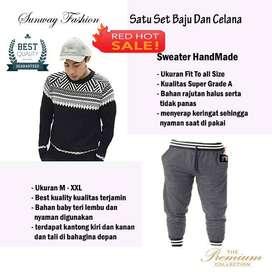 AM00238 Celana Setelan Satu set Sweater dan celana jogger