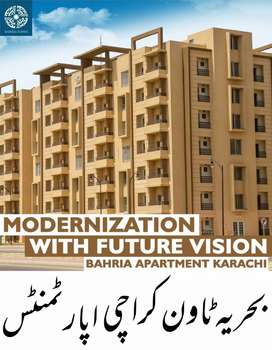 Modern living apartment is available for sale in Bahria Town Karachi.