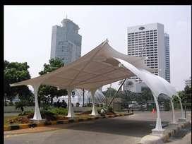 Ahlinya pasang canopy kain membrane berkualitas lokal bandung