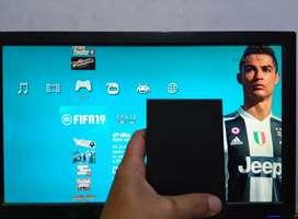 Dijual segera HDD Ps3 eksternal 320GB full 80 an permainan
