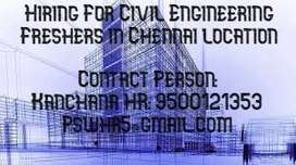 Hiring for Civil Engineering Freshers in Chennai Location
