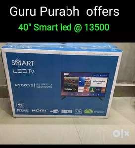 "Special guru Purabh offer new 40"" Smart led with year warranty"