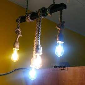 Lampu Gantung Vintage Model Tali untuk Lampu Interior Rumah Cafe