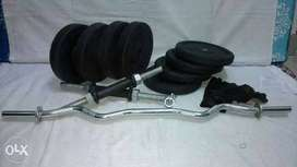 New Brand Dumbles Gym Set With 26 kg Weight +3 ft zigzag rod.