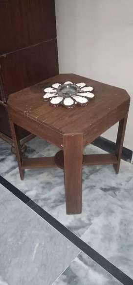 Antique teak wood coffee table