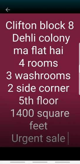 Urgent need to sale Dehli colony ma flat hai 2 side corner