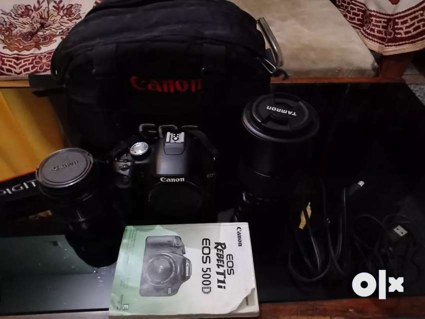 Canon 500D DSLR with 18-55mm and 70-300 mm lens 0