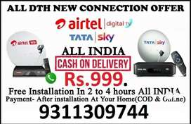 TATA SKY AND AIRTEL DTH ALL NEW CONNECTION + FREE INSTALLATION..
