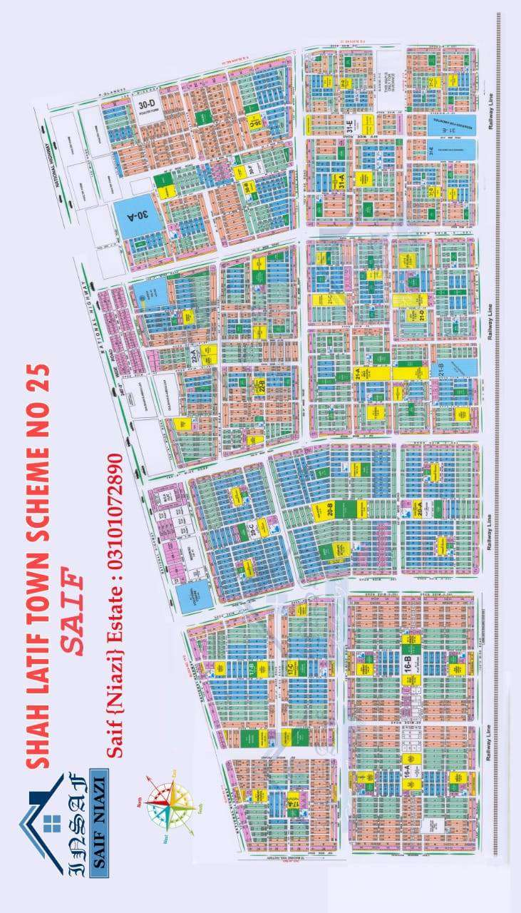 shah latife town 30C near masjid and park north open for residential 0