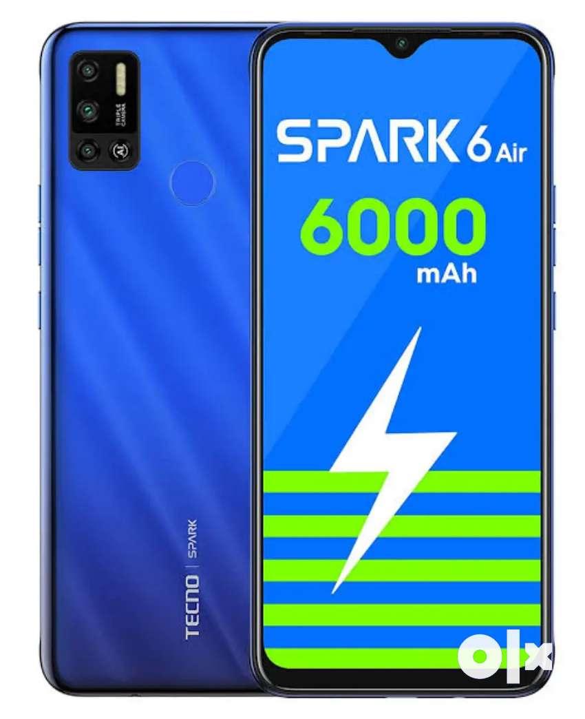 """3.5 Month, Tecno Spark 6 air 7"""" HD+, 6000mAh,13mp triple rear/8mp Sel 0"""