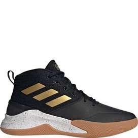 Sepatu Basket Adidas Own The Game Core Black/Mate Gold BNIB Original