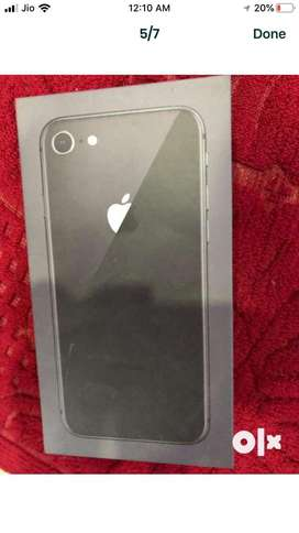 Iphone 8 64gb with box bill earphone charger adaptor