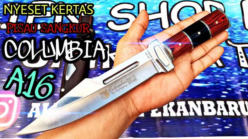 Sangkur pisau columbia tajam ganggang antik