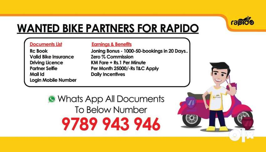 Need Bike Riders For India's Largest Bike Taxi App 0