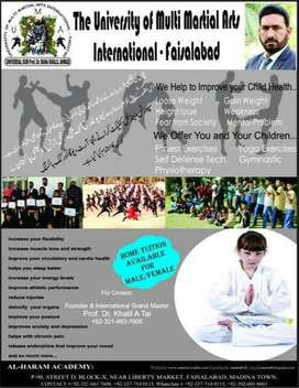 """ADMISSIONS GOING ON """"THE UNIVERSITY OF MULTI MARTIAL ARTS INT PAKISTAN"""