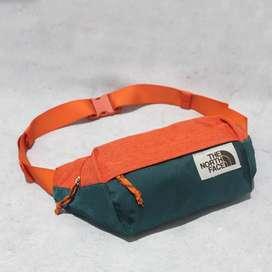 Tas Selempang Waist Bag TNF Green Tosca Comb Orange