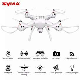 X8 Pro Syma Drone Wifi RC White GPS Auto Return FREE 1 BATERAI
