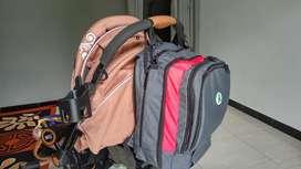 BabyGo Inc - Plum Backpack diaper bag tas bayi