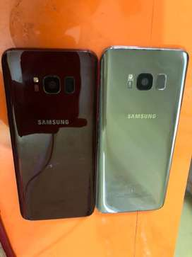 Samsung S8 gold and cherry colour