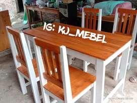 Meja kursi makan keluarga big sale