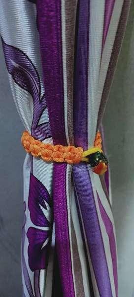 Macram curtain tie back