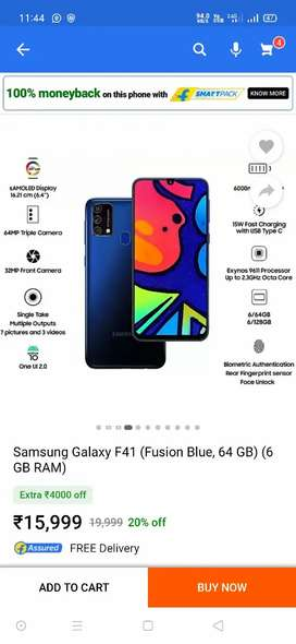 I want to sell sumsung F41 4/64+6/128 seal pack phone