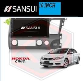 >KIKIM<  Head Unit Android Sansui 10Inch CIVIC