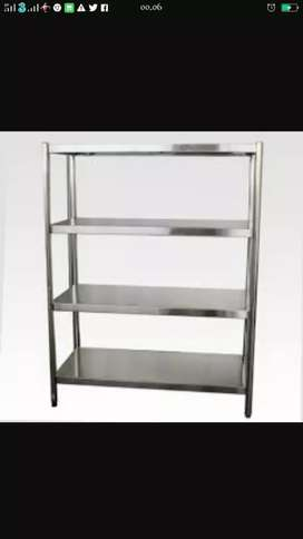 Rack 4 tiers stainless steel uk,p 120 x l 50 x t 155cm