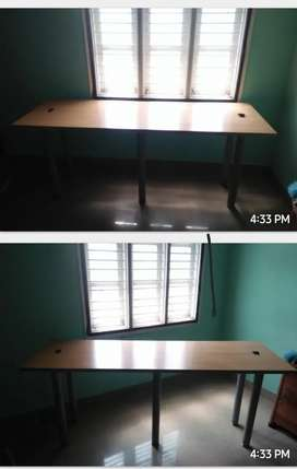 Steel cot, dressing table, study table, LED focus light