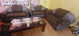 Double Seater 3 Sofa Set along with Center Table