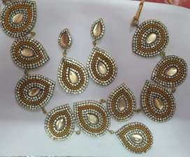 Golden necklace for girls combo of two