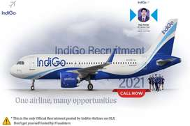 IndiGo Airlines are Hiring for Ground Staff / Driver / Guard at Neares