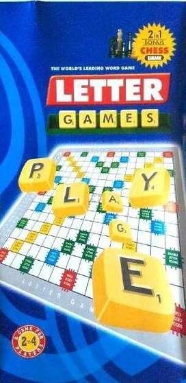 Lettes Games Scrabble + Catur 2in1