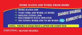 Excellent opportunity for all Earn 23000 per month just by typing job