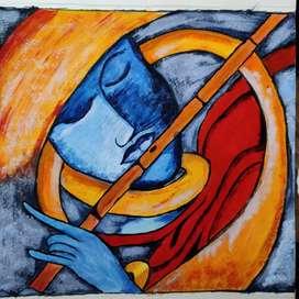 Krishna modern art painting