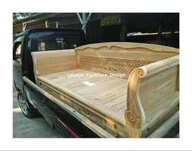 bale bale jati, daybed kayu ukir minimalis jepara mpb19972