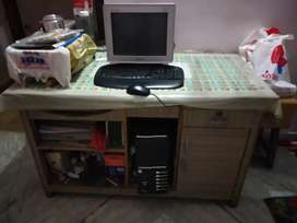 Desktop with Microtek ups and Logitech keyboard and mouse