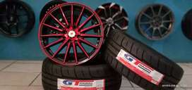 Paket velg+ban semislick GT Champiro SX2 R16 cocok untuk Vios Livina
