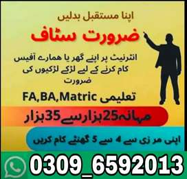 Part Time / Full time /Home based working in lahore