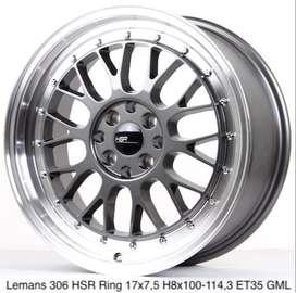 jual velg LEMANS 306 hsr ring 17X75 H8x100-114,3 et35 GML