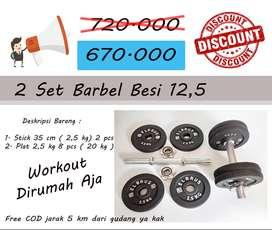 Barbel Diskon , 12,5 kg 2 set total 25 kg