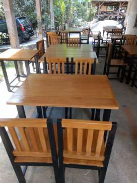 Meja set kursi usaha kuliner