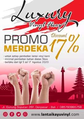PROMO MERDEKA 17% Lantai Vinyl Murah di Bali