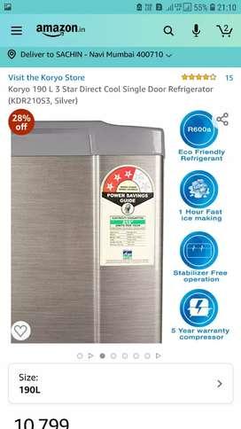 KORYO refrigerator 190ltr
