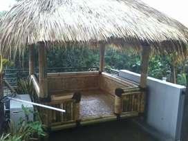 Saung bambu atap ilalang ukuran 3x harga satuan